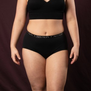 Aliya – Period Underwear with Bridge (Black)