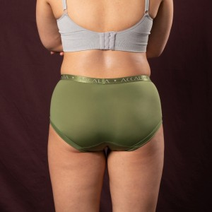 Aliya – Period Underwear with Bridge (Olive)