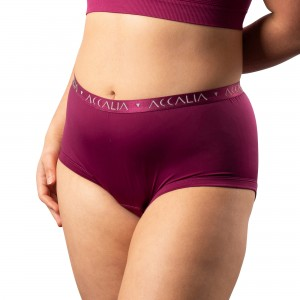 Oriana – Period Underwear for Daytime (Plum)
