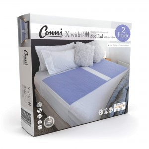 Conni X-wide Dual Reusable Bed Pad with Tuck-ins - 2PACK