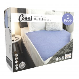 Conni Reusable Bed Pad with Tuck-ins – 2PACK