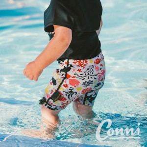 Kids Containment Swim Short – SAND CASTLE **