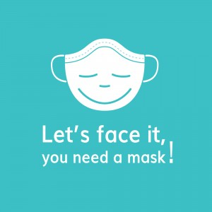 Conni Let's Face It reusable mask - x2 Masks x20 Filter Inserts - Kids