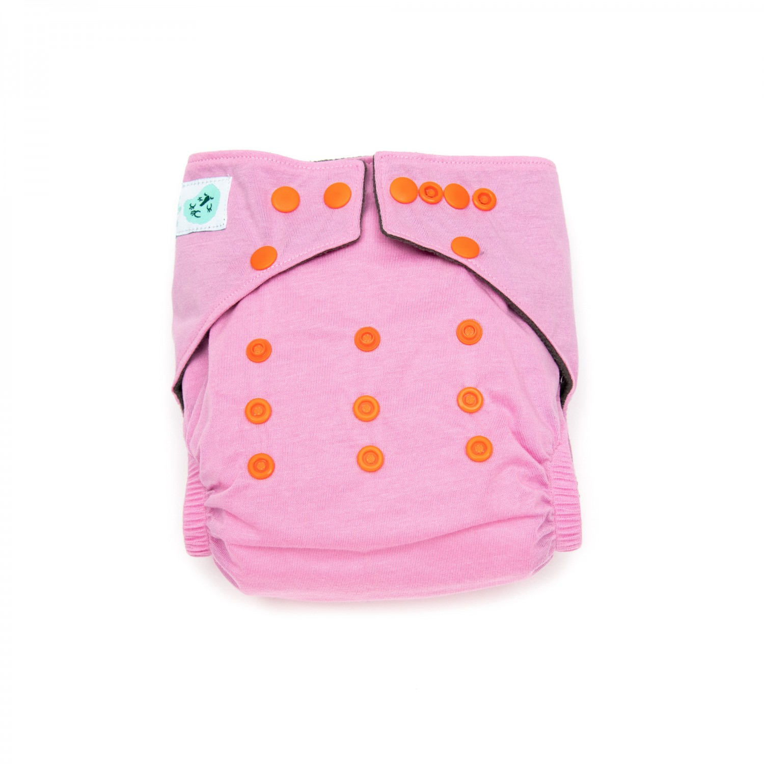 Modern Cloth Nappy – 4mo to 2.5yr – includes 2 inserts – Pink Lemonade