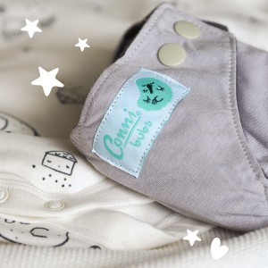 All in one Newborn Cloth Nappies – 0-4 Months – Whisper Grey