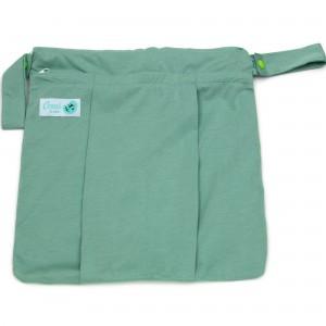 Conni Bubs Wet Bag Dual Pocket – Powder Mint