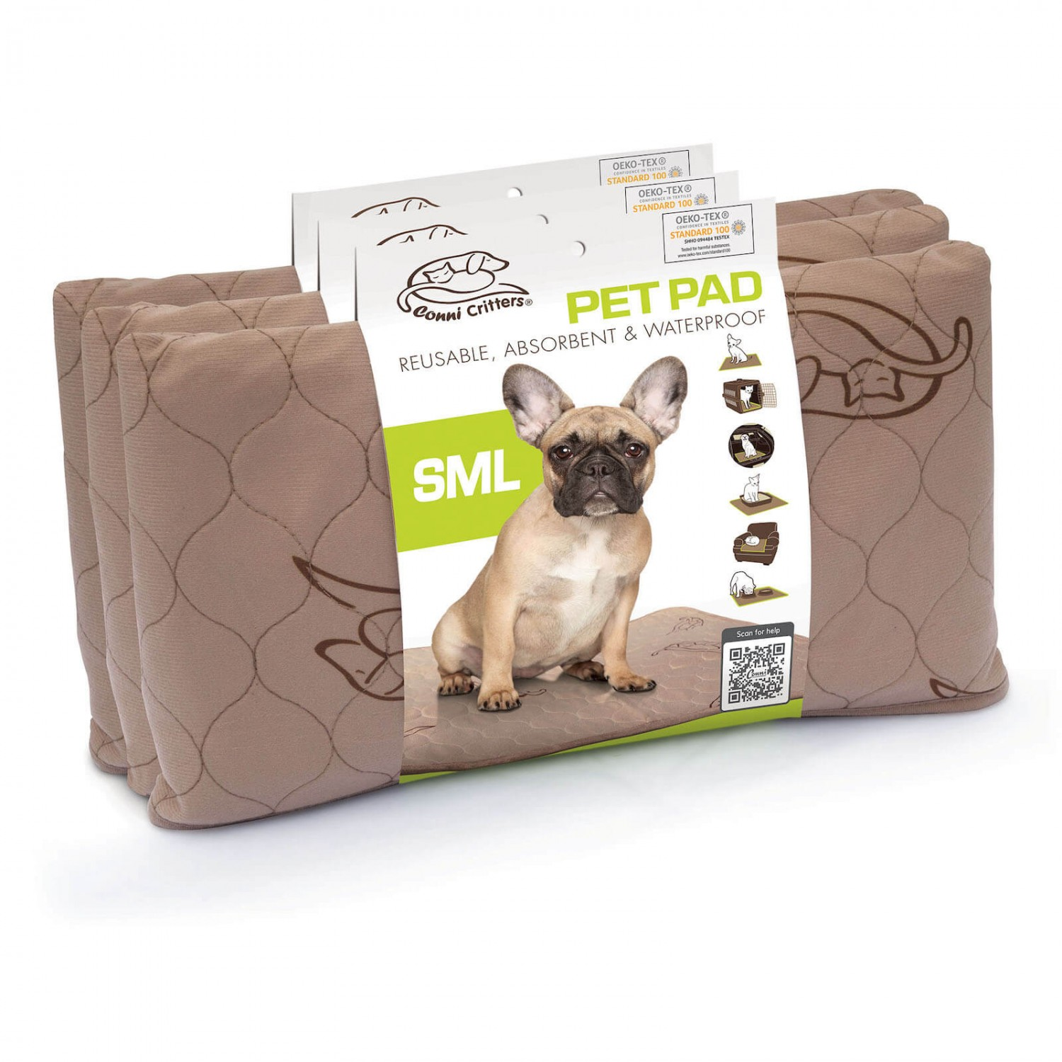 Conni Critters Pet Pad - Small (3 Pack)