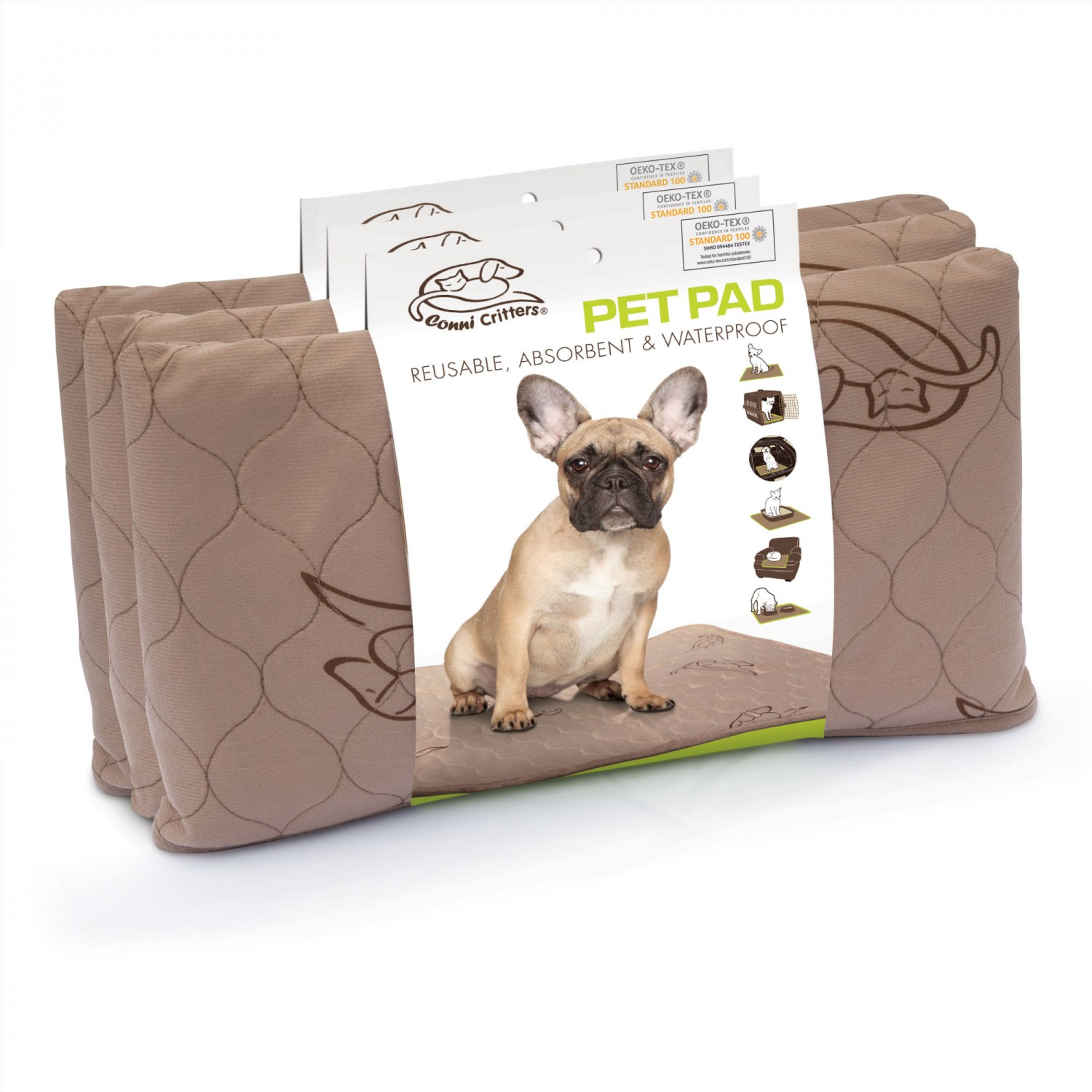 Conni Critters Pet Pad – Medium (3 Pack)