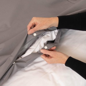 Conni Waterproof Quilt Cover - Charcoal